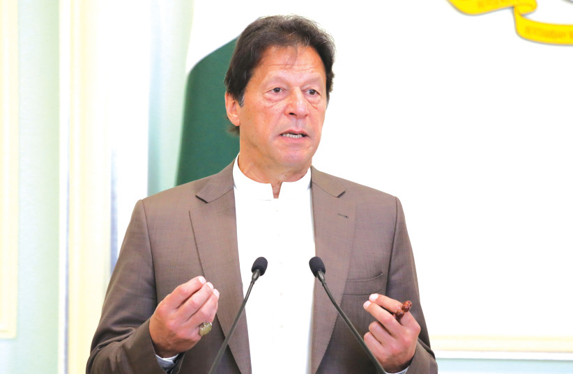 PAKISTANI PRIME MINISTER Imran Khan. Last month, a Pakistani minister said the 2019 Pulwama terrorist attack was a 'success of the whole nation.'  (photo credit: REUTERS)