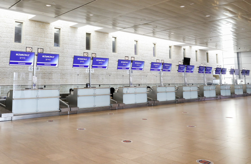Ben-Gurion Airport is empty amid the coronavirus pandemic. (photo credit: MARC ISRAEL SELLEM)