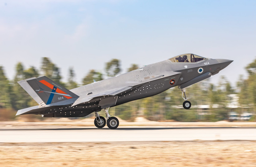The F-35I stealth fighter jet.  (photo credit: AMIT AGRONOV/ISRAEL AIR FORCE)