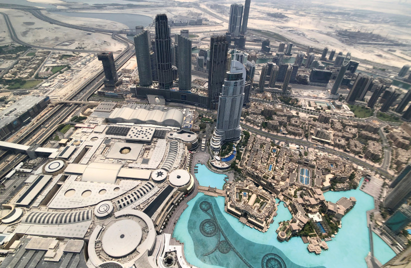 DUBAI VIEWED from the Burj Khalifa, the world's tallest building (photo credit: HAMAD I MOHAMMED/REUTERS)