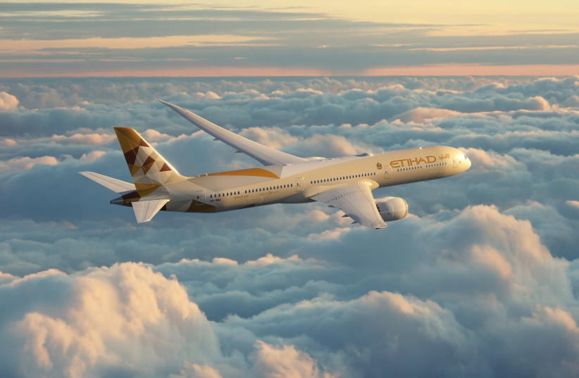 Etihad Airways, the national airline of the UAE, will have daily flights to Tel Aviv beginning in March 2021.  (photo credit: ETIHAD)