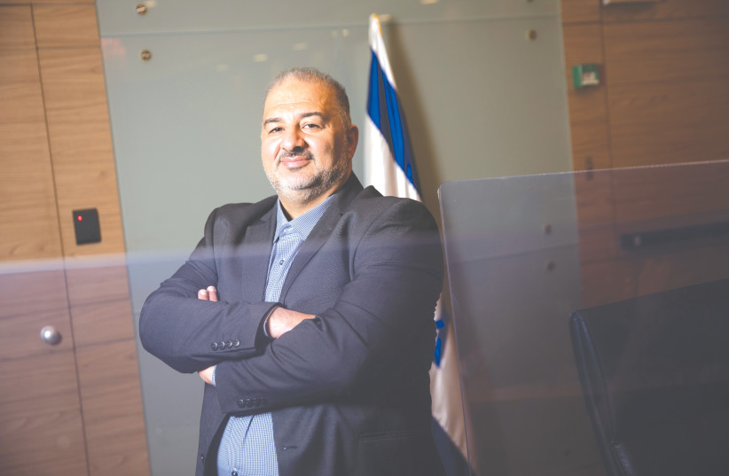 DEPUTY KNESSET SPEAKER Mansour Abbas: I accept the democratic choices of Jewish-Israeli society, just like I ask Jewish-Israeli society to accept the choices of Arab-Israeli society. (photo credit: HADAS PARUSH/FLASH90)