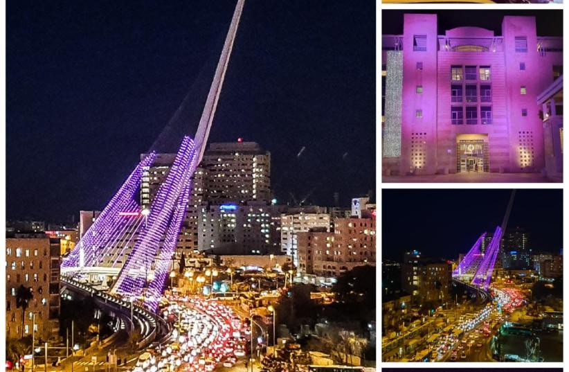 Jerusalem in purple (photo credit: ELI MANDELBAUM)