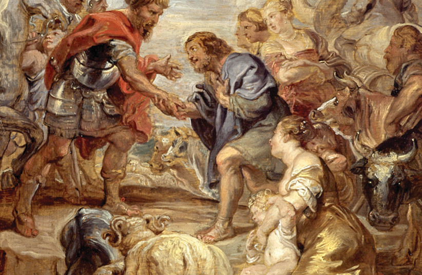 Peter Paul Rubens, The Reconciliation of Jacob and Esau, 1624 (photo credit: WIKIPEDIA)