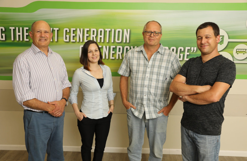 Group photo (L-R) : Prof. Gideon Grader, Avigail Landman , Prof. Avner Rothschild and Dr. Hen Dotan. (photo credit: TECHNION)