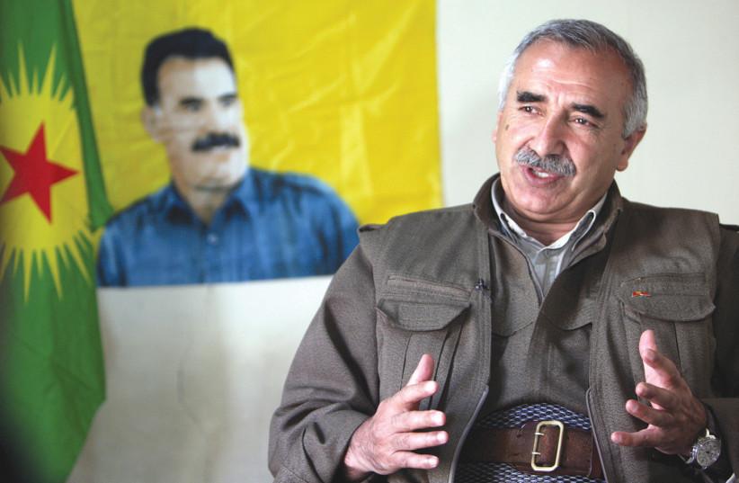 Murat Karayilan, PKK military commander (photo credit: AZAD LASHKARI / REUTERS)