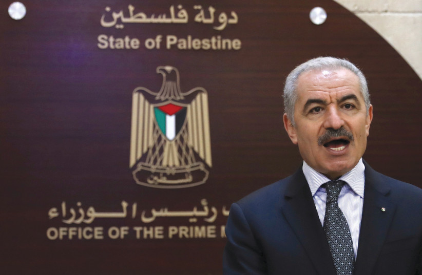 PALESTINIAN PRIME Minister Mohammad Shtayyeh – refusing to recognize that Arab states have a right to defend their vital interests.  (credit: ALAA BADARNEH/POOL VIA REUTERS)