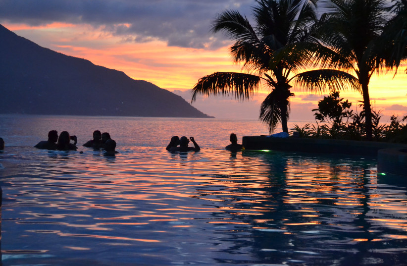 The Hilton Seychelles Northolme Resort is renowned for its stunning sunset views. (photo credit: TOBIAS SIEGAL)