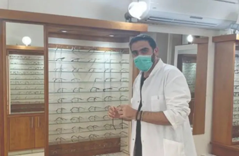 Ciril Kahlon in his clinic in Jerusalem. (photo credit: CIRIL KAHLON/MAARIV)