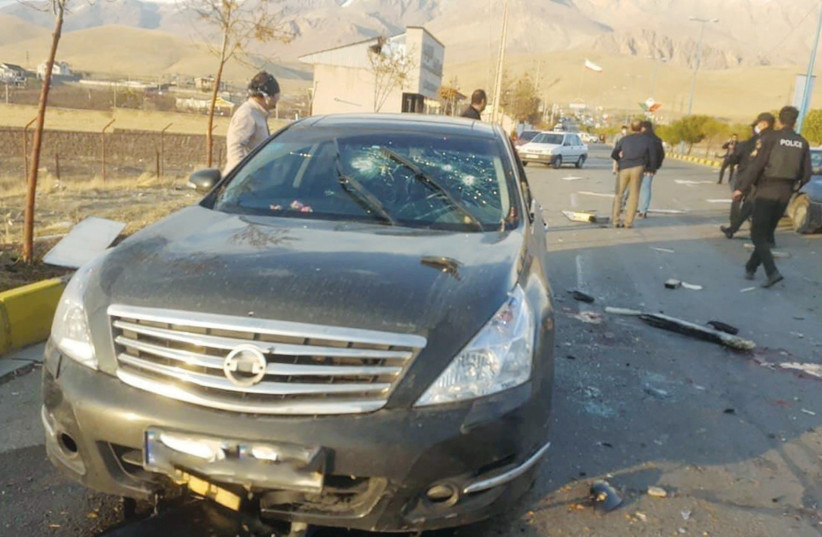 A VIEW shows the scene of the attack that killed Iranian scientist Mohsen Fakhrizadeh outside Tehran last Friday. (photo credit: WEST ASIA NEWS AGENCY)