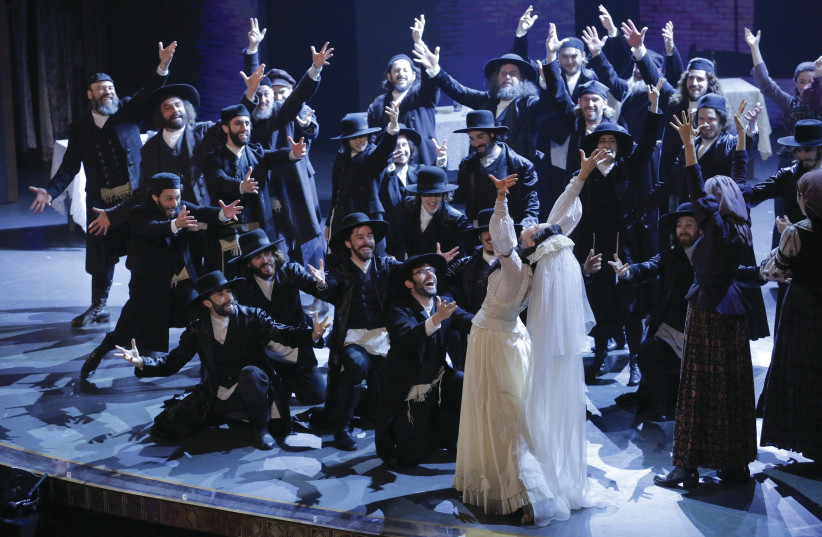 'FIDDLER ON THE ROOF' at the 70th annual Tony Awards in 2016. After the runaway success of NYTF's unorthodox revival of 'Fiddler on the Roof in Yiddish,' this anomaly may have inspired a whirlwind of interest in Yiddish classes, theater and culture that is having its moment during, of all things, a  (photo credit: REUTERS)
