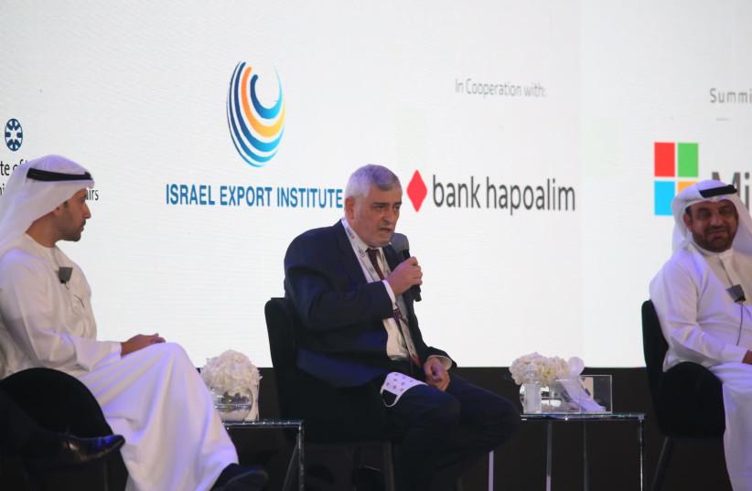 Bank Hapoalim CEO Dov Kotler speaking at GITEX on December 7, 2020.  (photo credit: SIVAN PEREG)