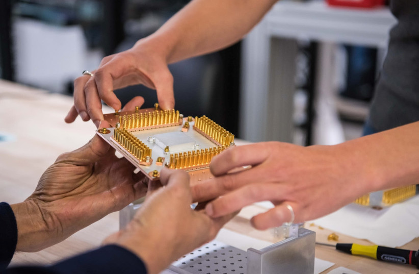 A handout picture from October 2019 shows a component of Google's Quantum Computer in the Santa Barbara lab, California, US. (photo credit: GOOGLE/HANDOUT VIA REUTERS)