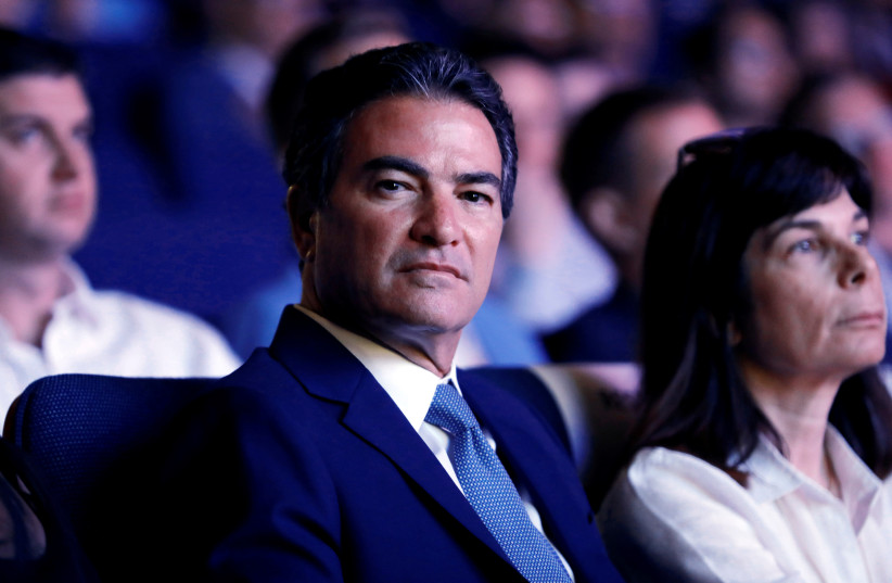 Mossad director Joseph (Yossi) Cohen attends a cybersecurity conference at Tel Aviv University, Israel June 25, 2019 (photo credit: REUTERS/CORINNA KERN)