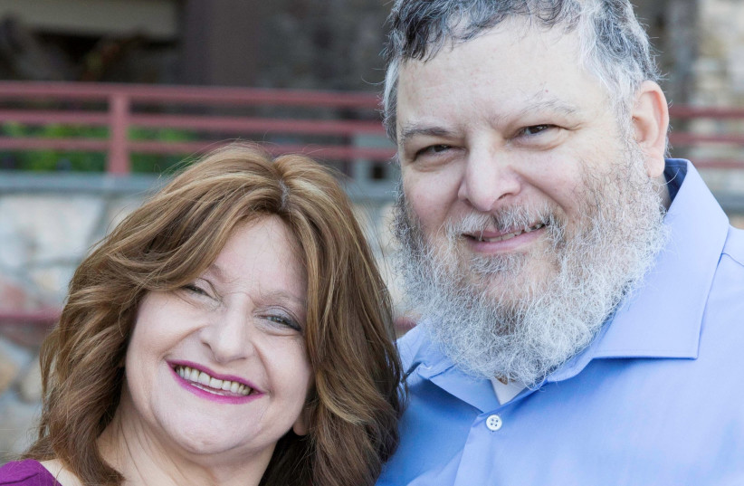 Robert Aiello with his wife, Leslie (photo credit: DARIANY PENA)