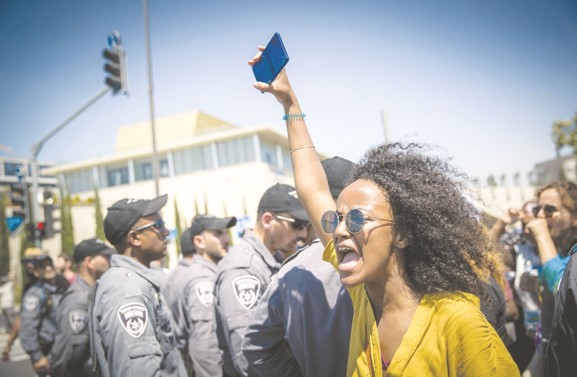 THE INABILITY to empathize and understand the struggles of others almost always comes from those with less societal obstacles to success. Pictured: Ethiopians demonstrate last year in Jerusalem against police violence and discrimination following the death of Solomon Tekah.  (photo credit: YONATAN SINDEL/FLASH90)