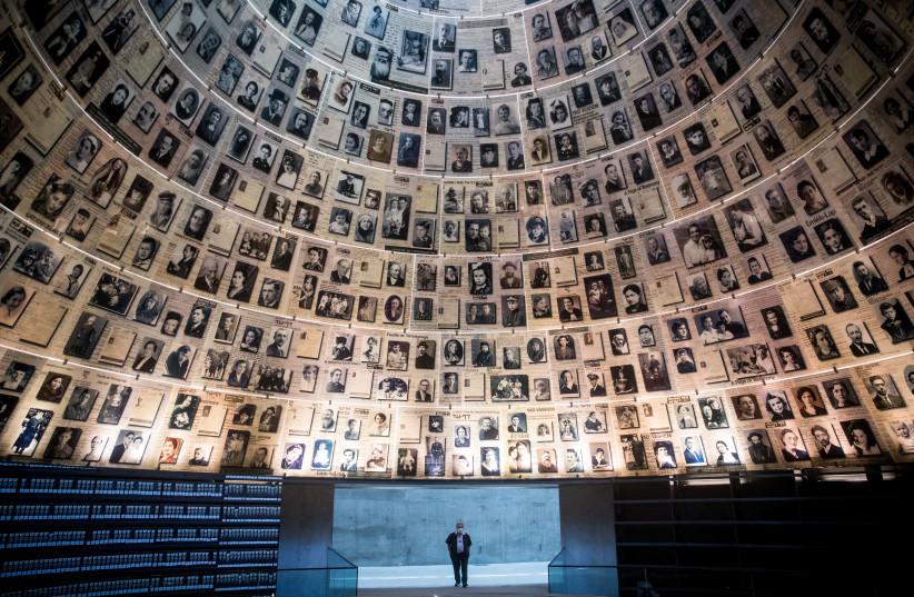 HALL OF Names, Yad Vashem. (photo credit: YONATAN SINDEL/FLASH 90)