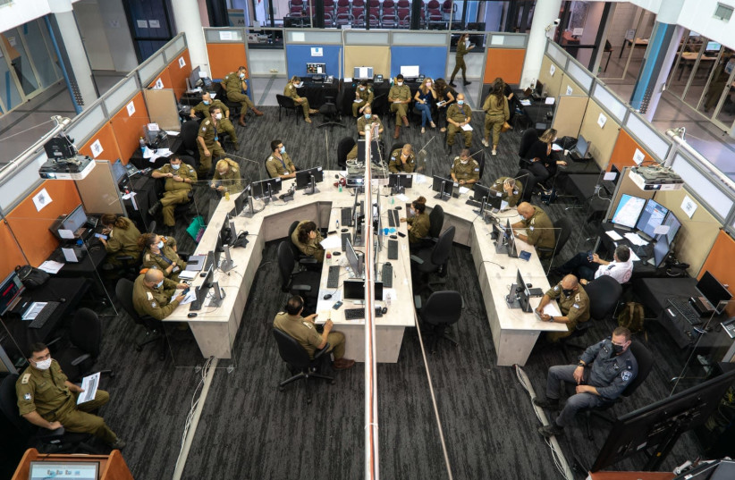 The Alon Command Center (photo credit: IDF SPOKESPERSON'S UNIT)