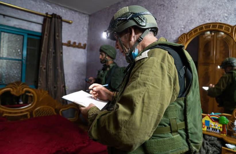 IDF maps house of terrorist suspected of killing Esther Horgen (photo credit: IDF SPOKESPERSON'S UNIT)