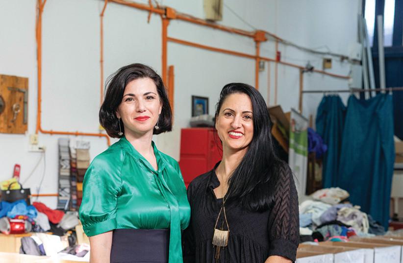 VIKTORIA KANAR (left) and Revital Nadiv present the pioneering project Re-Born Textiles. (photo credit: RE-FRESH CENTER)