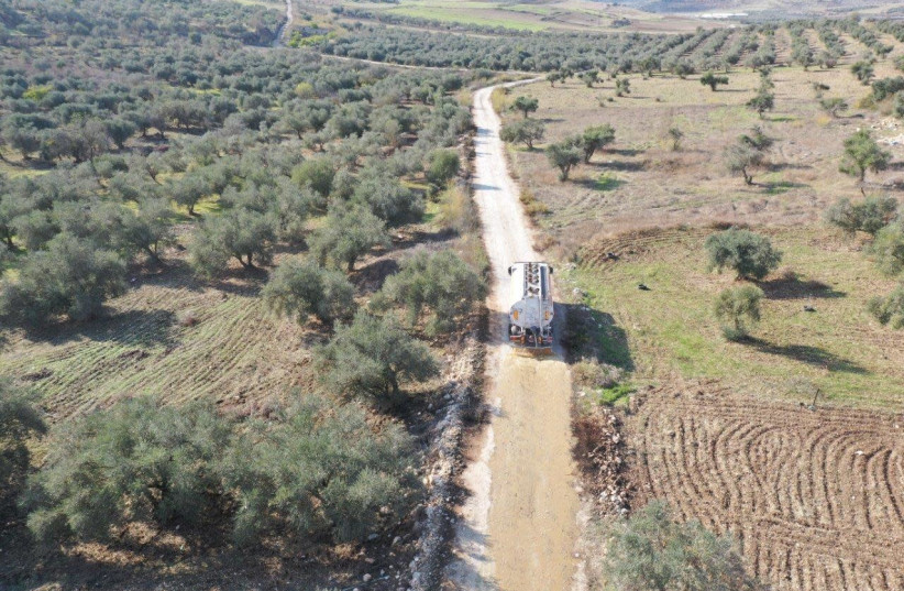 Civil Administration removes olive mill wastewater from rivers, coast (photo credit: COGAT)