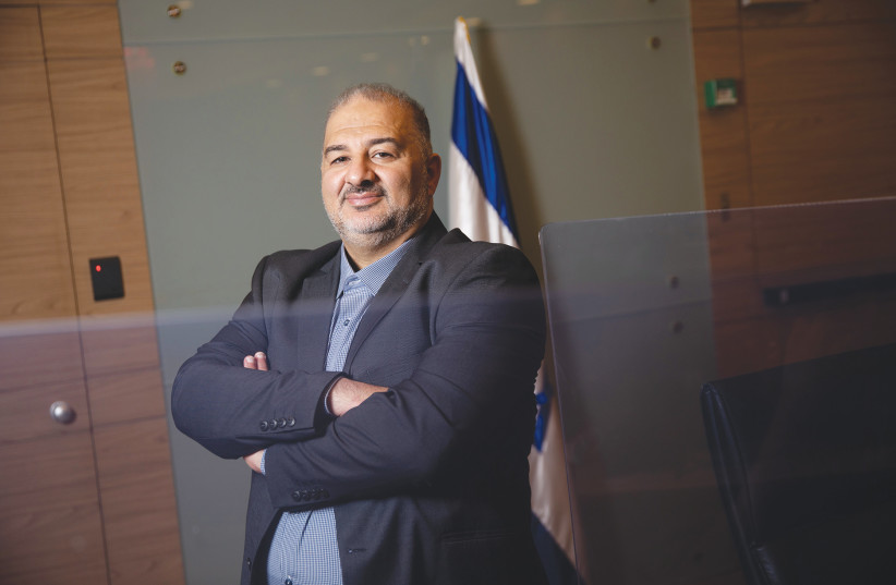 MANSOUR ABBAS in the Knesset. (photo credit: HADAS PARUSH/FLASH90)