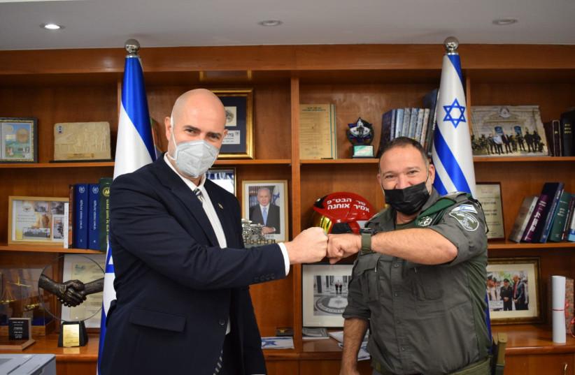 Public Security Minister Amir Ohana with Israel Police chief nominee Kobi Shabtai (photo credit: Courtesy)