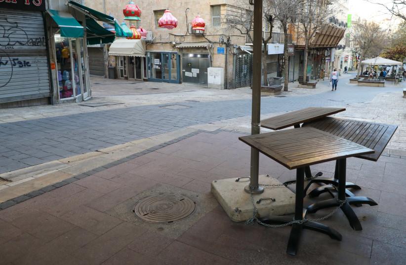 Streets in Israel appear abandoned amid coronavirus lockdown (photo credit: MARC ISRAEL SELLEM)