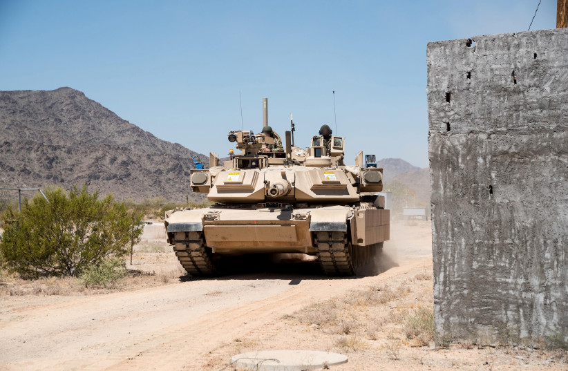 The Trophy Active Protection Systems (APS) on a US Abrams tank. (photo credit: RAFAEL ADVANCED DEFENSE SYSTEMS)