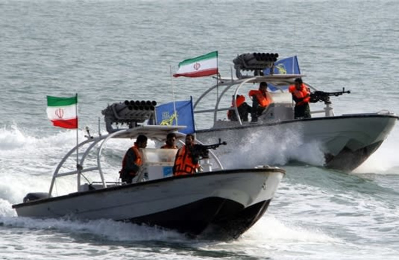 IRGC siezes ship near Bu Musa Island, Iran (photo credit: Wikimedia Commons)