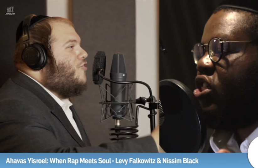 When rap meets soul - Levy Falkowitz and Nissim Black. (photo credit: AMUDIM)