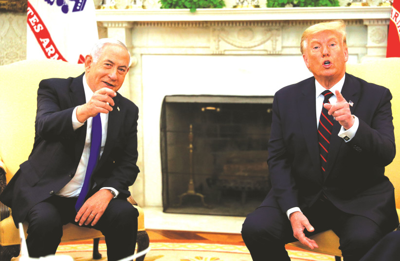 RIME MINISTER Benjamin Netanyahu meets with President Donald Trump at the White House in Washington, DC, in September. (photo credit: TOM BRENNER/REUTERS)