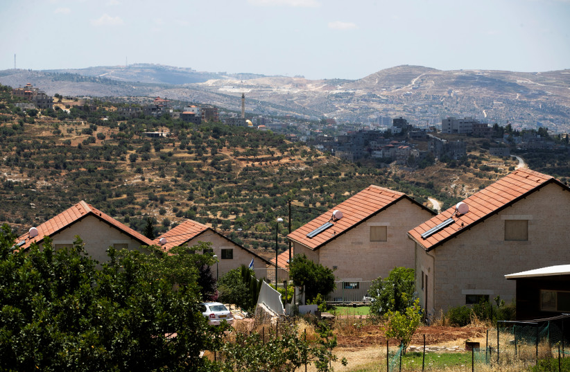 The Higher Planning Council is set to advance West Bank settler housing projects Sunday, including in Itamar. Picture taken June 15, 2020. (photo credit: RONEN ZVULUN/REUTERS)