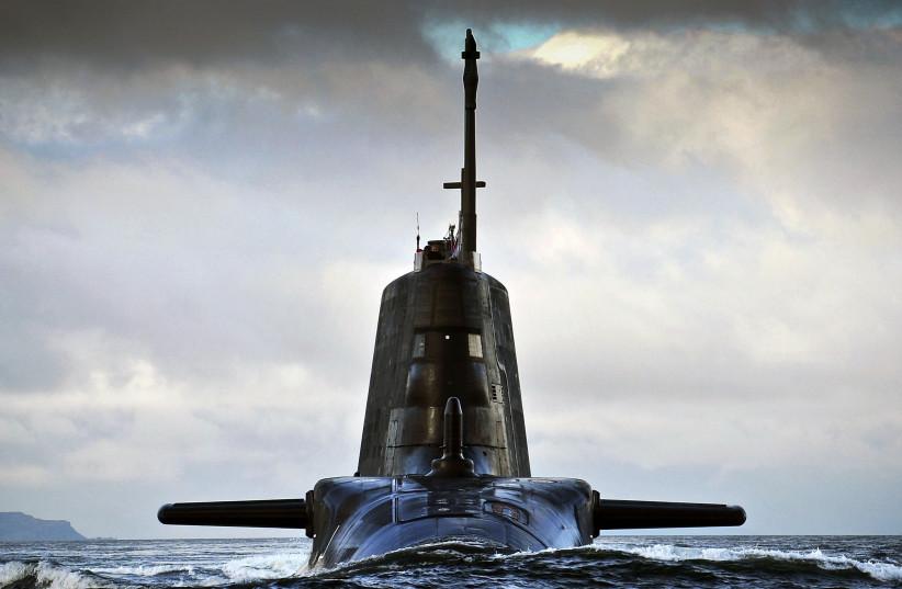 Royal Navy ambush submarine seen near Scotland (credit: Courtesy)