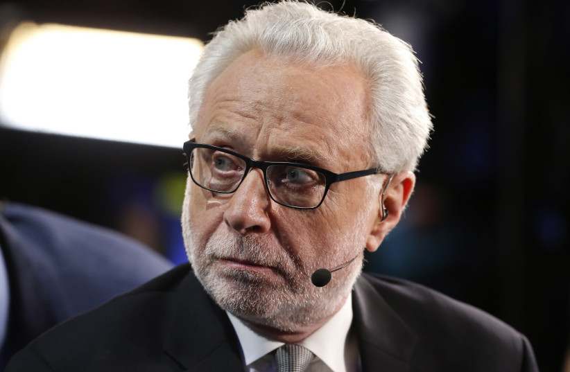 CNN anchor Wolf Blitzer at the Democratic National Convention in Philadelphia, Pennsylvania, US July 27, 2016. (photo credit: REUTERS/LUCY NICHOLSON)