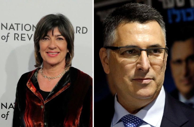 CNN's Christiane Amanpour interviewing Gideon Sa'ar (photo credit: Courtesy)