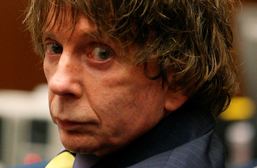 Music producer Phil Spector attends his murder trial at the Los Angeles Superior Court in 2007.  (photo credit: GABRIEL BUOYS/REUTERS)