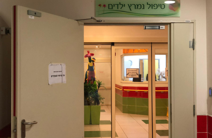 The Pediatric Intensive Care Unit at Kaplan Medical Center in Rehovot, January 18, 2021.  (photo credit: KAPLAN MEDICAL CENTER)