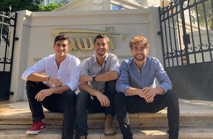 Yuval Perry (L), Josh Drill (center), Avidan Ejnes (R). (photo credit: MAAYAN LEVI)