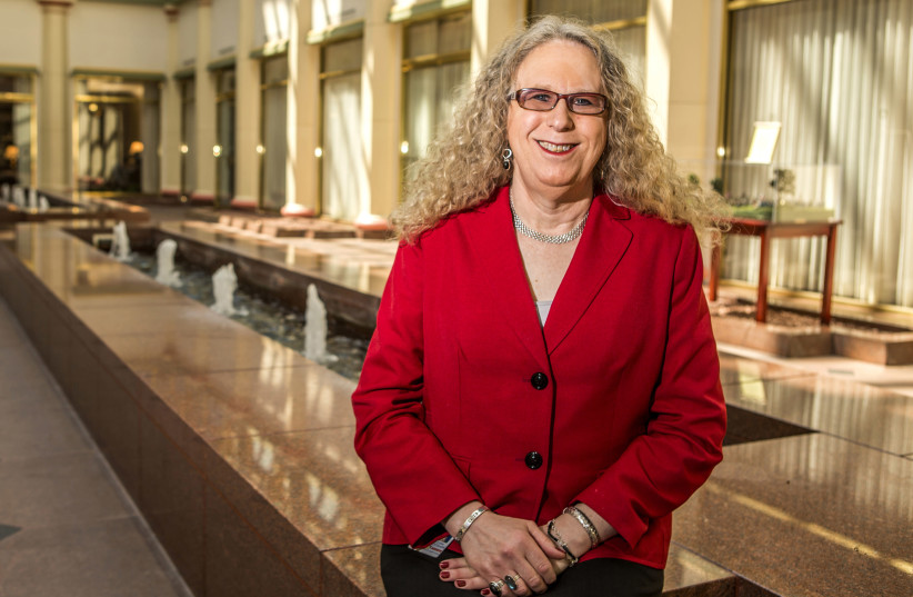 Dr. Rachel Levine, physician general nominee, is seen at the State Capitol in Harrisburg, Pennsylvania May 4, 2015. Levine, a transgender woman who teaches pediatrics and psychiatry at Penn State College of Medicine (photo credit: DANIEL SHANKEN/REUTERS)
