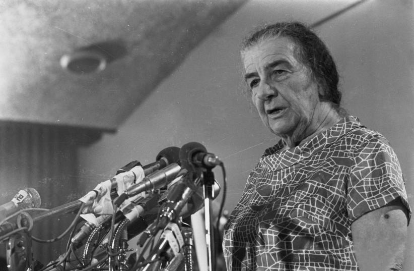 Prime Minister Golda Meir during the Yom Kippur War. (photo credit: DEFENSE MINISTRY)