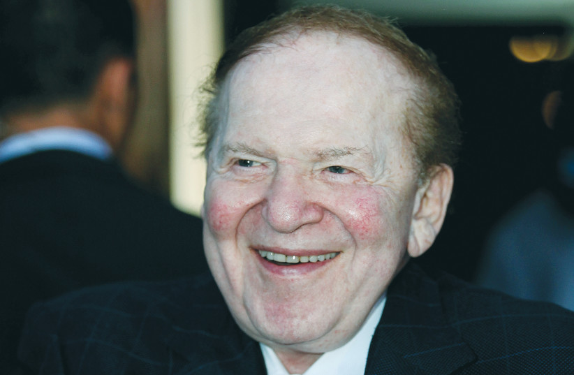 SHELDON ADELSON attends an American Independence Day celebration in 2009. (photo credit: MOSHE SHAI/FLASH90)