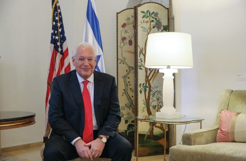 DAVID FRIEDMAN: I don't think I'll be complacent until Israel's geopolitical status is the same as Norway's. Israel is still under more pressure than it should be. (photo credit: MARC ISRAEL SELLEM/THE JERUSALEM POST)