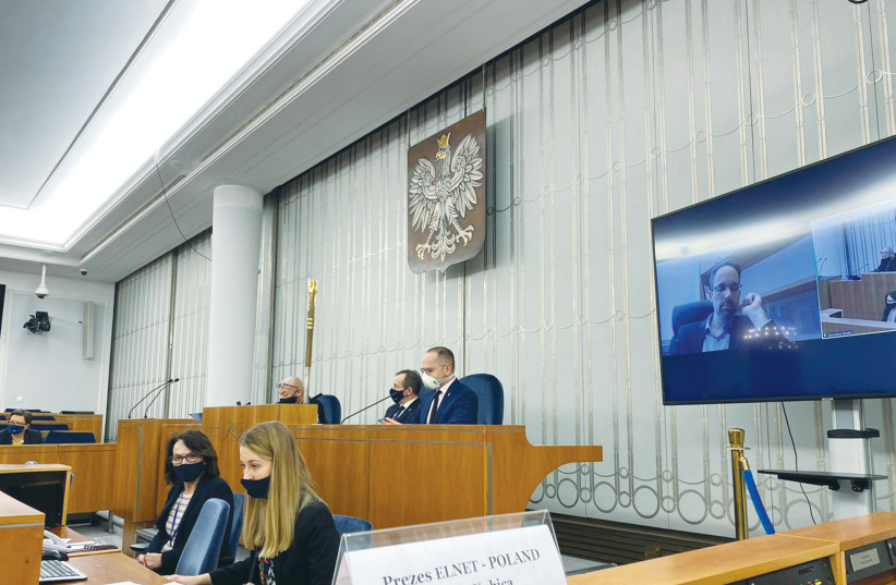 A DISCUSSION about  COVID-19 is held in the Polish Senate earlier this month. (photo credit: COURTESY ELNET EUROPE-ISRAEL)