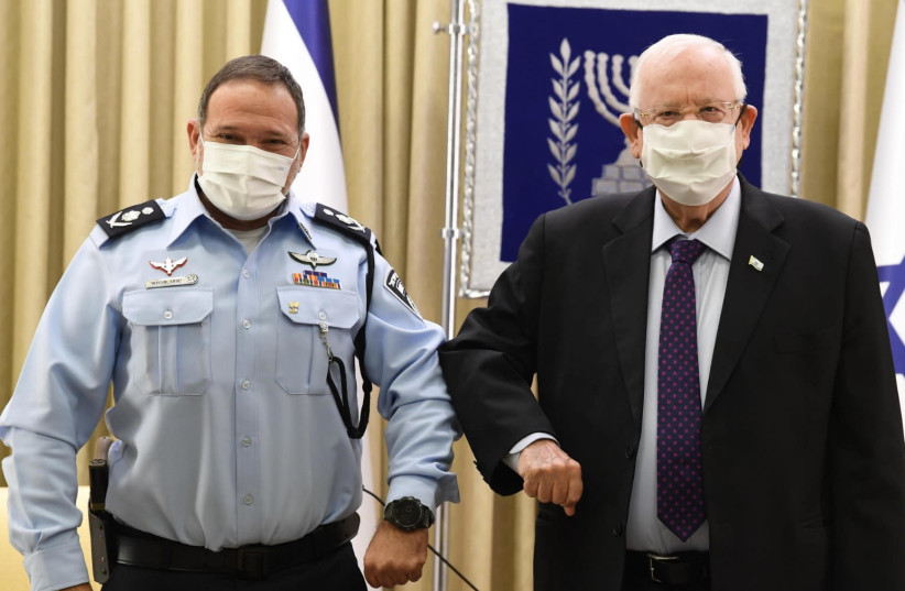 Rivlin calls on new top cop to be responsible (photo credit: PRESIDENTIAL SPOKESPERSON OFFICE)