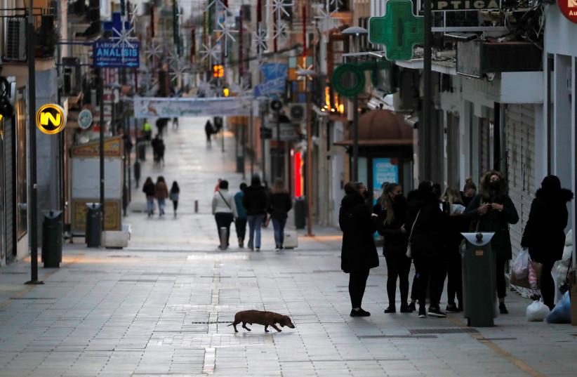 Outbreak of the coronavirus disease (COVID-19) in Ronda, Spain (photo credit: REUTERS)