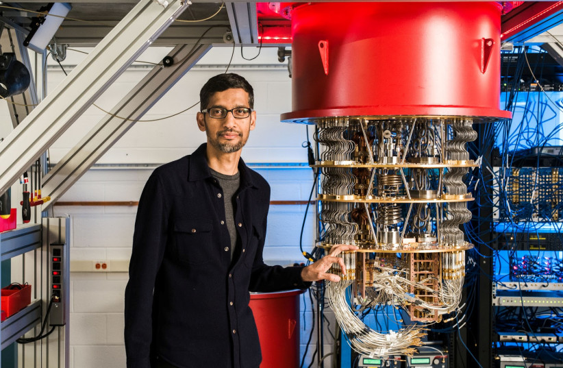 ONE OF Google's Quantum Computers in the Santa Barbara lab, pictured in October 2019 (photo credit: GOOGLE/HANDOUT VIA REUTERS)