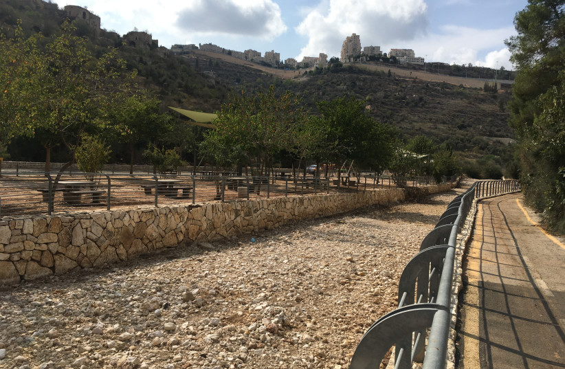 EMEK HA'ARAZIM playground.  (photo credit: BRIAN BLUM)