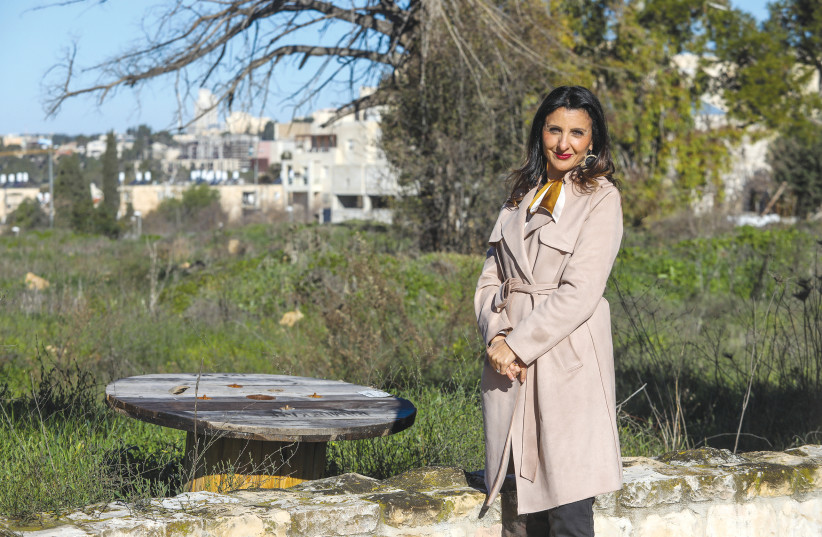 Deputy Mayor for Foreign Relations, Economic Development and Tourism Fleur Hassan-Nahoum on the site of planned expansion of the US Embassy in Jerusalem (photo credit: Courtesy)