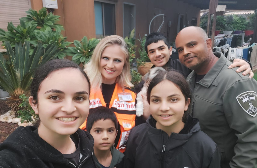 Vicky Tiferet with her husband and children.  (photo credit: UNITED HATZALAH)